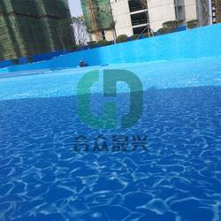 造浪池 游泳池贴膜 铺装图片