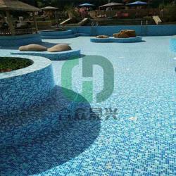 改造户外游泳池 老旧游泳池改造 体育馆 泳池防水贴膜 铺装图片