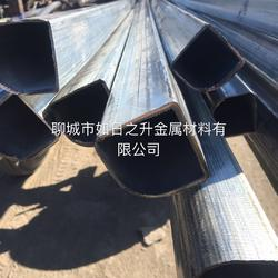 异型钢管定做 镀锌扇形钢管 冷拔半圆管 P形钢管 八角管 六边管图片
