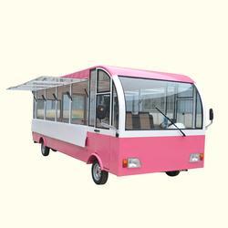 全封閉電動箱式美食餐車中巴車款式新穎優惠圖片