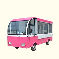 車店合一小車頂大店的多功能四輪美食餐車圖片