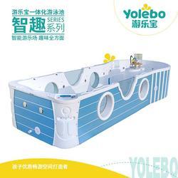 拼接式亚克力儿童游泳池水上早教设备上门安装图片