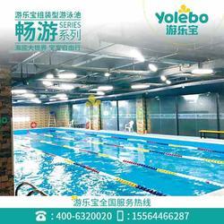 拼装钢板池室内恒温健身会所游泳设备大型拆装式游泳池图片