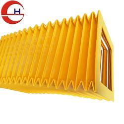 盛昊定制 黄色风琴护罩 矩形风琴防尘罩 柔性风琴防护罩厂图片