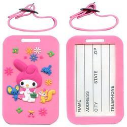 厂家定制PVC软胶卡通新创意行李牌地址牌挂号牌信息牌箱包牌图片