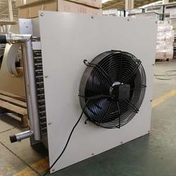 铜管暖风机温室花卉蝴蝶兰多肉盆栽加温设备玻璃温室冬季供暖风机图片