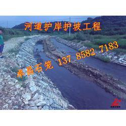 堤身防护石笼网     堤基缺陷防护镀锌石笼网   河床河流冲积石笼网箱、绿滨垫图片
