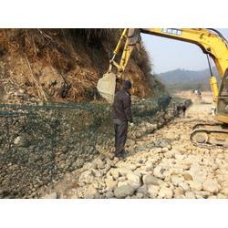 河道护底石笼护垫、护坝石笼网、河底铺砌石笼网箱   固滨笼图片