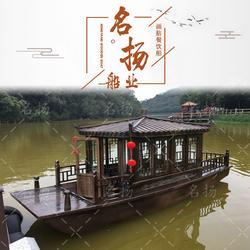 热卖6米可坐10人的电动画舫木船厂家图片
