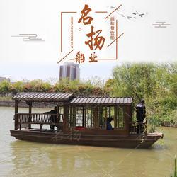 厂家设计画舫船 画舫船 景区农庄画舫木船图片