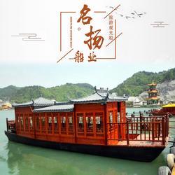 供应10米画舫船 仿古豪华餐饮木船 影视道具画舫船图片
