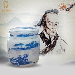供应陶瓷茶叶罐直桶茶叶罐中药膏方瓶图片