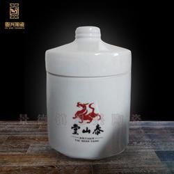 膏方罐 储存罐 液体防漏罐子500ml瓷罐 陶瓷密封罐定制厂家图片