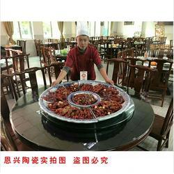 定做陶瓷海鲜大盘鱼盘 青花瓷盘图片