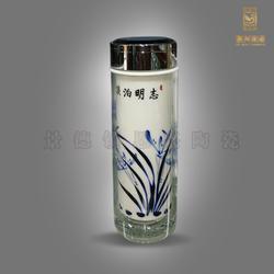 厂家直销陶瓷保温杯 高档礼品保温杯 青花瓷保温杯图片