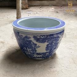 定做陶瓷花盆 青花瓷花盆图片