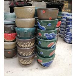 青花大缸陶瓷鱼缸定制手绘陶瓷大鱼缸图片