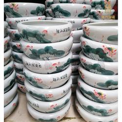 定制手工陶瓷大缸 青花陶瓷鱼缸图片