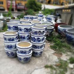 恩兴陶瓷定做种树种花陶瓷花盆 可加公司logo图片