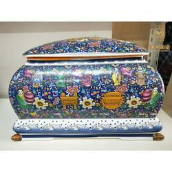 定做陶瓷骨灰盒殡仪馆用骨灰盒图片