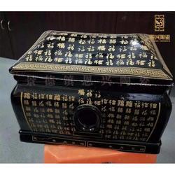 定做陶瓷棺材 高档陶瓷骨灰盒 陶瓷骨灰坛图片