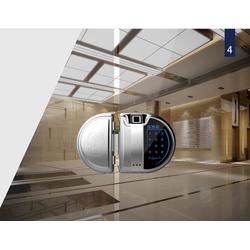 玻璃狗无框双门智能锁ZKS3WS15图片