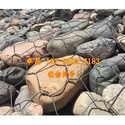 河渠护岸雷诺护垫 锌铝合金格宾垫 生态固滨笼规格 8*10绿滨垫图片