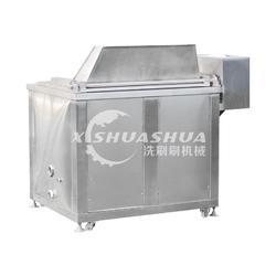 供應廠家直銷洗刷刷XSS-1000魚豆腐油炸機 供應不銹鋼的自動出料油炸機圖片