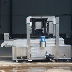 供应厂家直销洗刷刷XSS-3000鱼制品油炸流水线 肉制品网带油炸设备 连续式油炸设备图片
