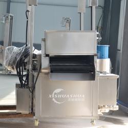 供应厂家直销洗刷刷XSS-3000全自动电加热油炸设备 底部刮渣式食品流水线 连续式生产线图片