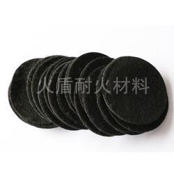 红木檀香炉防火垫8CM黑色香盒隔火垫阻燃棉图片