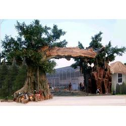 水泥假树大门-室内假树-大型假山制作图片