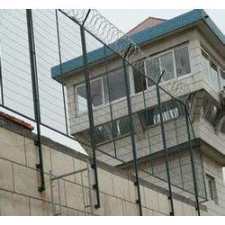 防攀爬梅花刺网看守所围网 监狱钢网墙图片