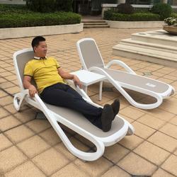 酒店泳池躺椅防腐防晒户外沙滩躺椅厂家直销图片