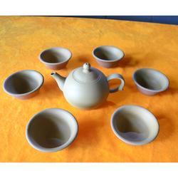 康砖秀-云南工艺品-乳白套装茶具-云南青砖图片