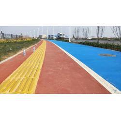 聚合物现浇金刚盲道施工做法适用于沥青 混凝土各种路面图片