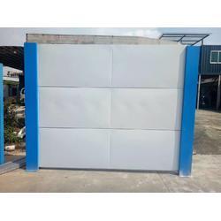 新标准钢板围档 镀锌结构围蔽板 D型快装建筑围墙图片