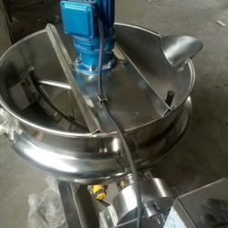 夹层锅 不锈钢夹层锅 双层熬制酱料设备 ---劲松机械 蒸煮锅图片
