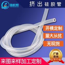 批量定制蓝色透明硅胶管 高透明 性价比高图片