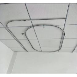 厂家直销病床隔帘滑轨 医院美容院隔帘导轨 铝合金围帘轨道L型图片