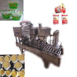供应全自动杯装早餐粥灌装封口机 绿豆沙冰灌装封口机 杯装月饼封杯机图片