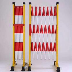 变电站电力施工检修绝缘伸缩护栏  管式玻璃钢红白安全围栏批发