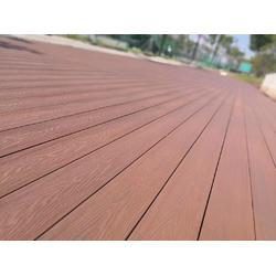 供应塑木地板 木塑景观栈道 塑木平台露台阳台图片