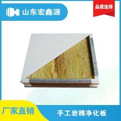仙桃岩棉净化板厂家_宏鑫源_双面彩钢岩棉净化板厂家图片