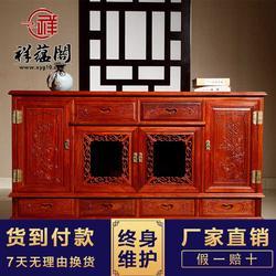 现代红木家具餐边柜 红木餐边柜茶水柜及图片