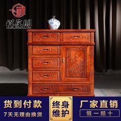 客厅红木家具五斗柜 超实用储物型红木三斗柜图片