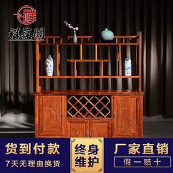 中式红酒柜大全 豪华大气红酒柜子 酒柜书架两用红木柜子图片