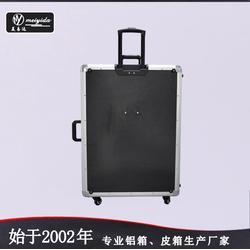美易达厂家直销专业带灯化妆箱支架手提铝箱可拆拉杆定制图片