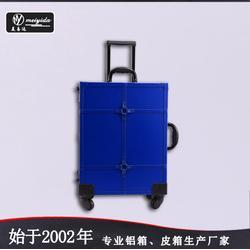 專業鋁合金拉桿化妝箱帶燈大號拉桿箱燈箱可定做圖片