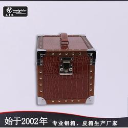 美易达手提复古化妆箱大号欧美风简约收纳箱个性收纳盒化妆箱图片